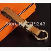 Classic Brand H Originality Genuine Leather Key Ring ,  High-grade Keychain with Original Box .  Free Shipping
