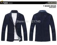 2014 new Man full cotton long-sleeved suit plus size 4XL 5XL fashion  outwear Leisure suit men blazer  111