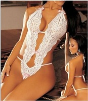 Europe Lace Sexy Lingerie Rose 3 Point Sex Teddies Bra Sets nightie intimate uniform underwear negligee femme vetement nightclub