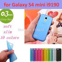 0.3mm Ultra Thin Slim Transparent Luxury Soft TPU Crystal Soft Cover Case for Samsung Galaxy S4 mini i9190