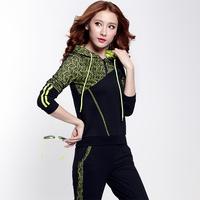 3XL sports set 2014 autumn casual plus size clothing set spring and autumn sweatshirt set female