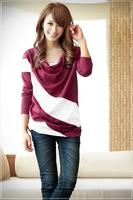 2014 NEW fashion Korean Sweet beauty woman Spring bat shirt Loose long-sleeved Casual sweater coat
