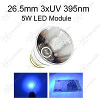 Creative ~ New 26.5mm 5W 3xUV 395nm LED Modules 3*Chip UV 395nm Drop in for 501B 502B Flashlight