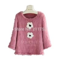 New Arrival exported natural mink fur coat 100% real mink fur knitted jacket High fashion