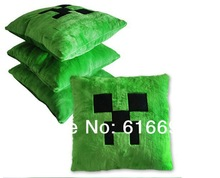 Minecraft Pillow Minecraft Creeper Pillow Plush Minecraft Cushion Bolster *Good Quality* in stock Same Day Shipping(China (Mainland))