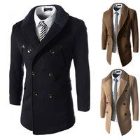 2015 winter UK style short trench coat mens casual windbreaker fashion jacket men's windcoat outwear