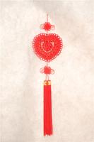 heart-shaped pendant 19 roses handmade Chinese knot pendant 20pcs Pure manual Chinese knot