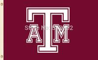 NCAA Texas A&M Flag 3x5 FT 150X90CM Banner 100D Polyester flag 1034, free shipping