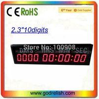"Godrelish 2.3"" Red Led Countdown Timer 10 digital 7 segment led display for countdown timer wall clock"