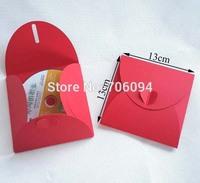 13x13cm High quality CD sleeve 200gsm thick red CD/DVD paper bag cd packaging bag Wedding CD packing Bag 100pcs/lot
