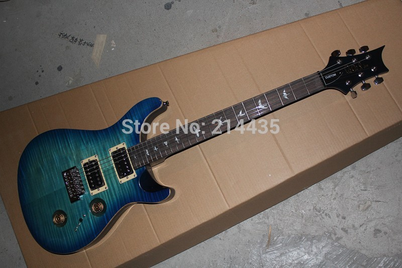 New Arrival Custom 24 PRS Electric Guitar with Floyd Rose Tremolo Custom Guitar & Body Available .Free shipping!(China (Mainland))