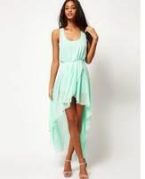women Low-high irregular sexy tank layers one-piece summer dress princess 2015 fashion