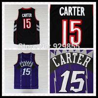 Fast Free Shipping, Embroidery Logos Retro Basketball Jersey  Toronto #15 Vince Carter Basketball Jersey