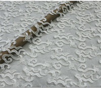 1402 3D Wedding Dress Tull embroidery Lace Fabric