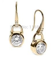 5PCS brand new Luxury Gold Metal high quality earrings Kors Letter earrings For Women Stud Earrings