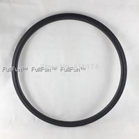 FULLFUN 30mm 23mm wide Tubular Carbon Rims 700C Road Bicycle Full Carbon Wheel 3k Matte One Piece V Brake 16/20/18/24 Holes