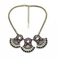 Cluster Brand Jewelry Crystal Lattice Folwer Leaf Statement Necklace Pendant For Women Christmas Dot Coral Cay Collar