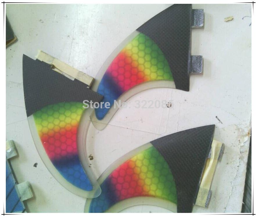 rainbow design surfboard fin honey comb fin side fin(China (Mainland))