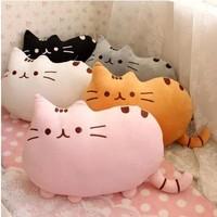 9.99 Promotion 40*30CM Novelty item soft plush stuffed animal doll, anime toy pusheen cat for girl kid;kawaii