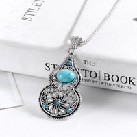 Min. order 9usd (can mix) Fahion Vintage Sweet Gourd Pendants Necklace,Ancient Sweater Chain Jewelry