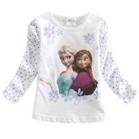 Princess dress ice Cinderella kids cartoon autumn foreign trade children's clothing girls long sleeve t shirt