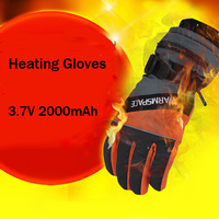 Ski Non-slip Waterproof Electric USB Heating Gloves with 2000mah Li Battery Heat Gloves Heated Gloves 5pairs/lot