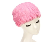 Two Side Microfiber Fabric Women Waterproof Shower Caps Drying Hair Cap Hat Bathing Cap Double Layer Thicken Multifunction