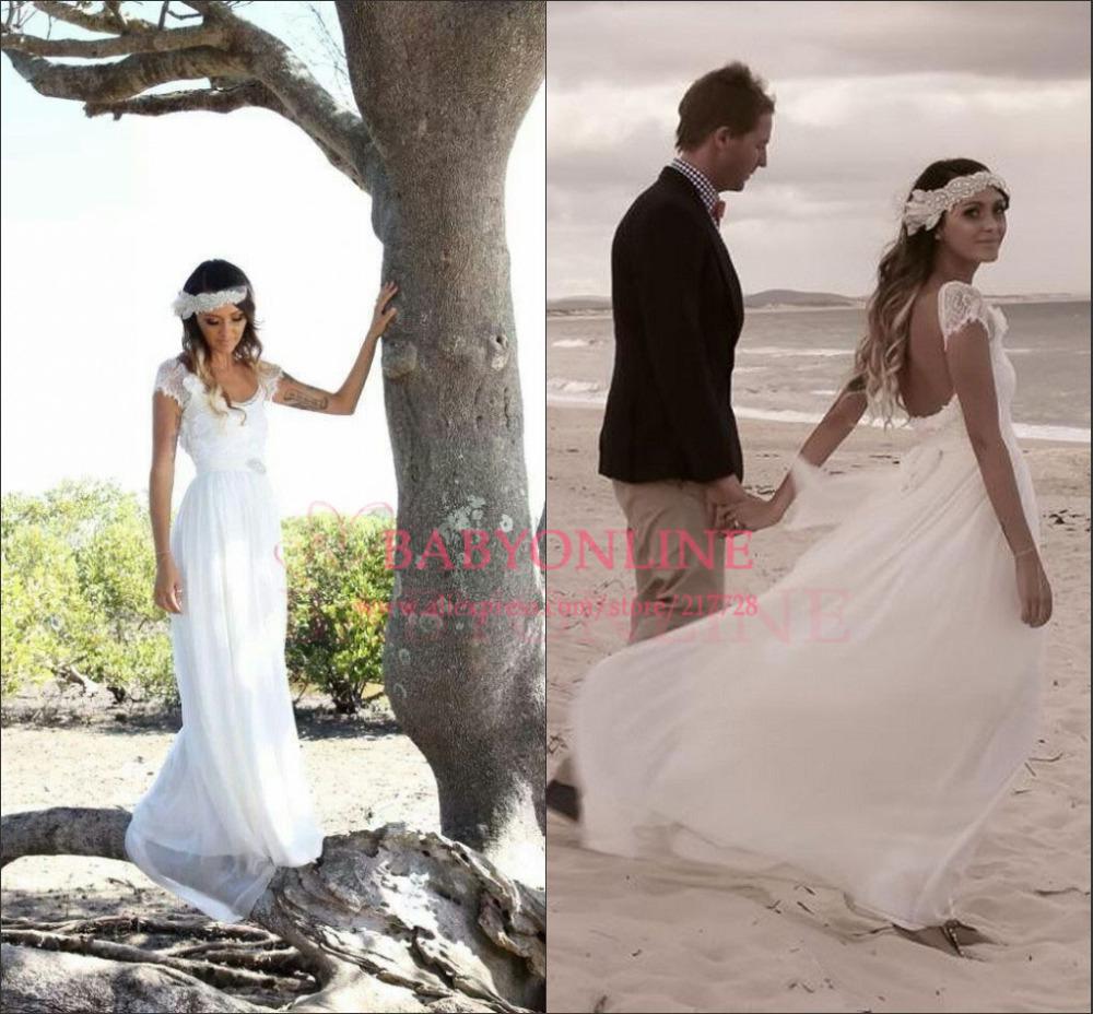 Vintage robe de mariée bohème