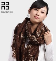 Run Bo  Ms. autumn and winter days snake pattern pure wool scarf    YH015