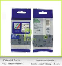 Very Strong adhesive 12mm black on white tz label tape tz-fx231 tze-231