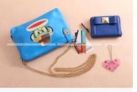 RO079 hat monkey head iridescent PU zipper shoulder bag Messenger Bags handbags Drop shipping /Wholesale Free Shipping