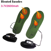 50pairs/lot, Factory Wither Best Sale 3.7V 2600MAh Electric Heating Shoe Pad Heated Insoles WARMSPACE Winter Outdoor Warm