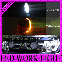FREE SHIPPING 5.5 INCH 7 INCH 45W / 60W LED DRIVING LIGHT COVER Clear Yellow Color 4X4 OFFROAD 4WD TRUCK MARINE LED WORK LIGHT