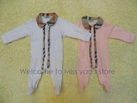 freeshipping100% cotton   high-quality fashion brand rompers 100% cotton  full Rompers  baby girlrompers for 3-18M