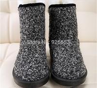 New Arrival Winter Women Snow Boots Slip-on Warm Fur Inside Cotton Face Panda Pattern Design Falts With Platform Shoes