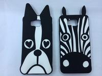 Animal Fashion 3D lovely Cute Cartoon Zebra Dog Soft Silicone Rubber Back Case For Samsung Galaxy Alpha G850F Cases