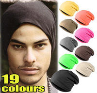 wholesale 19 colours unisex men&women candy colour Skullies men Beanie Stacking Knitted winter Hat NM002
