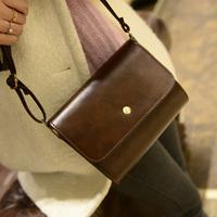 2014 women's vintage handbag mobile phone camera messenger bag oil waxing leather mini bags