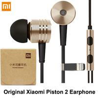 100% Original Xiaomi Piston II 2 Earphones Headphones Earbud with Remote & Mic For MI4 MI3 MI2 MI2S MI2A Mi1 Redmi 1s note Phone