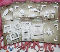 SC003 Mini Fake Plaster Relief Sculpture European style vintage resin carving Emboss decorative scrapbooking accessories