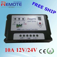 10A 12V/24V solar charge controller,double LED lighting display with time and lighting control
