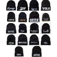 New Fashion Winter Unisex  Elastic Hip-hop Cap Beanie Hat   Dropshipping  free shipping wholesale  relax