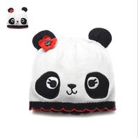 HOT! High Quality Boys Girls Cute Happy Panda Shape Knitted Cotton Beanies Kids Cartoon Fashion Skullies Hats Y-1332