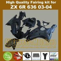 Injection mold matte black fairings for KAWASAKI NINJA ZX6R 636 03-04 ZX-6R 2003-2004 6R 03 04 ZX 6R 2003 2004 fairing kit COO90