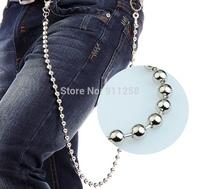 2014 New Metal Waist Chain for Men Male Punk Hip Hop Pants Chain Trousers Chian FS3196