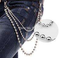 Men Metal Pants Chain Punk Style Hip Hop Street Dancing Waist Chain Multi-layer Belt Chain FS3198