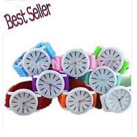 Hot sale New Fashion Designer Geneva Ladies sports brand silicone watch jelly watch quartz watch for women