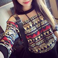 Spring Women Floral Pattern Print Cotton Pullover Hoodies Korean Vintage Street Cute Preppy Shirt Gauze Patchwork Sweatshirt