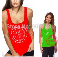2015 New Women gymshark Gym Tank top T Shirt  bodybuilding Clothes fitness  yoga sports leisure cotton vest