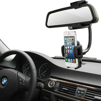 Free shipping NEW Smart Car Rearview Mirror Holder GPS Mount For Samsung Galaxy Note 3 N9000 N9005 cell phone 3.5-8cm DVD Player